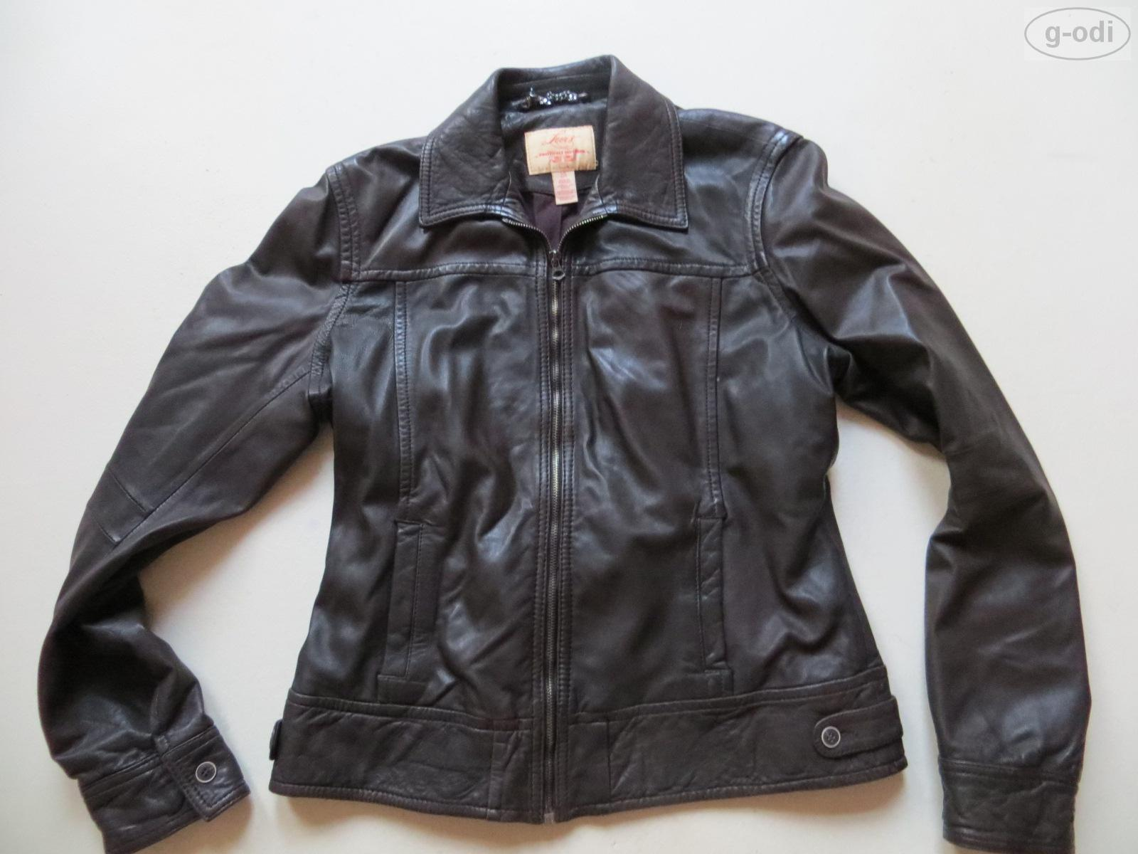 levi 39 s damen jacke lederjacke gr l braun echt leder biker rocker lady ebay. Black Bedroom Furniture Sets. Home Design Ideas