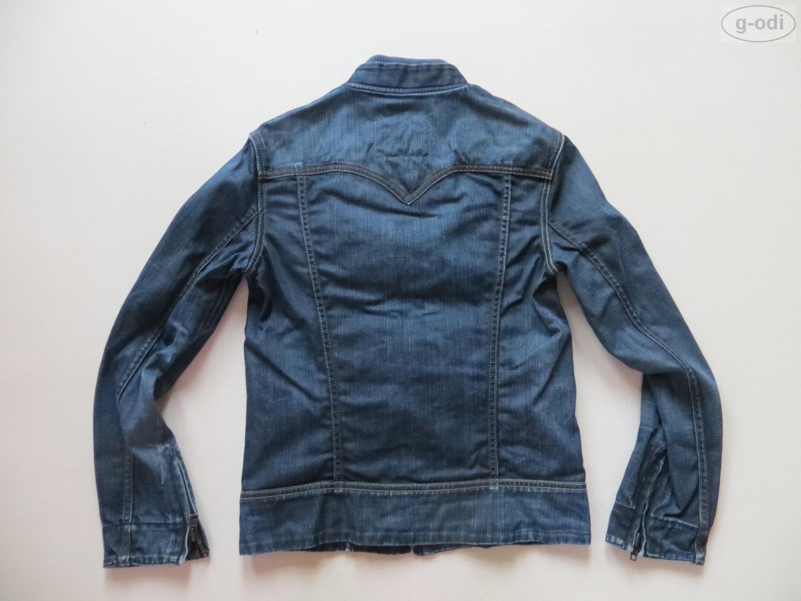 levi 39 s damen biker jacke jeansjacke gr s wie neu denim mit stehkragen ebay. Black Bedroom Furniture Sets. Home Design Ideas