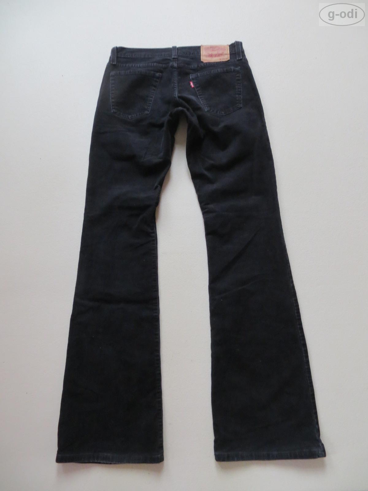 levi 39 s 529 bootcut jeans cord hose w 28 l 36 schwarz colored cordhose rar ebay. Black Bedroom Furniture Sets. Home Design Ideas