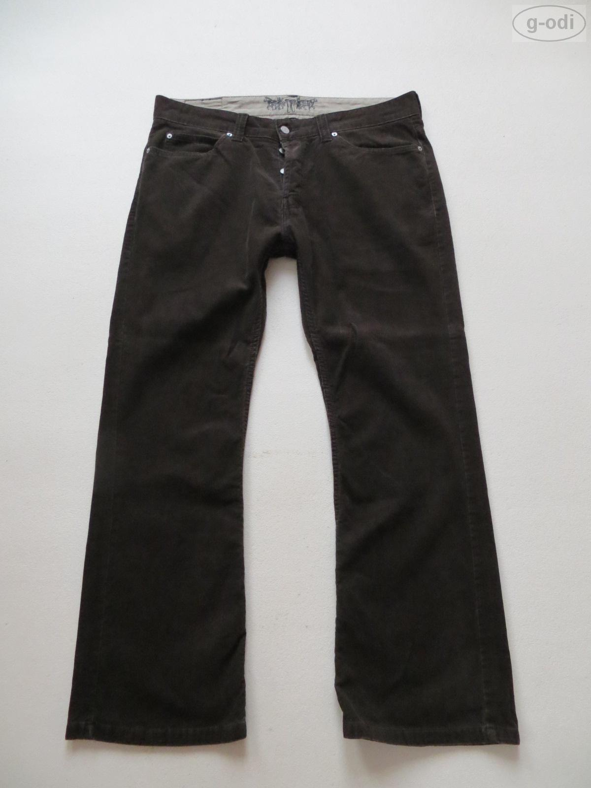 levi 39 s 512 cord bootcut jeans hose w 38 l 32 braun cordhose gr 54 rar ebay. Black Bedroom Furniture Sets. Home Design Ideas