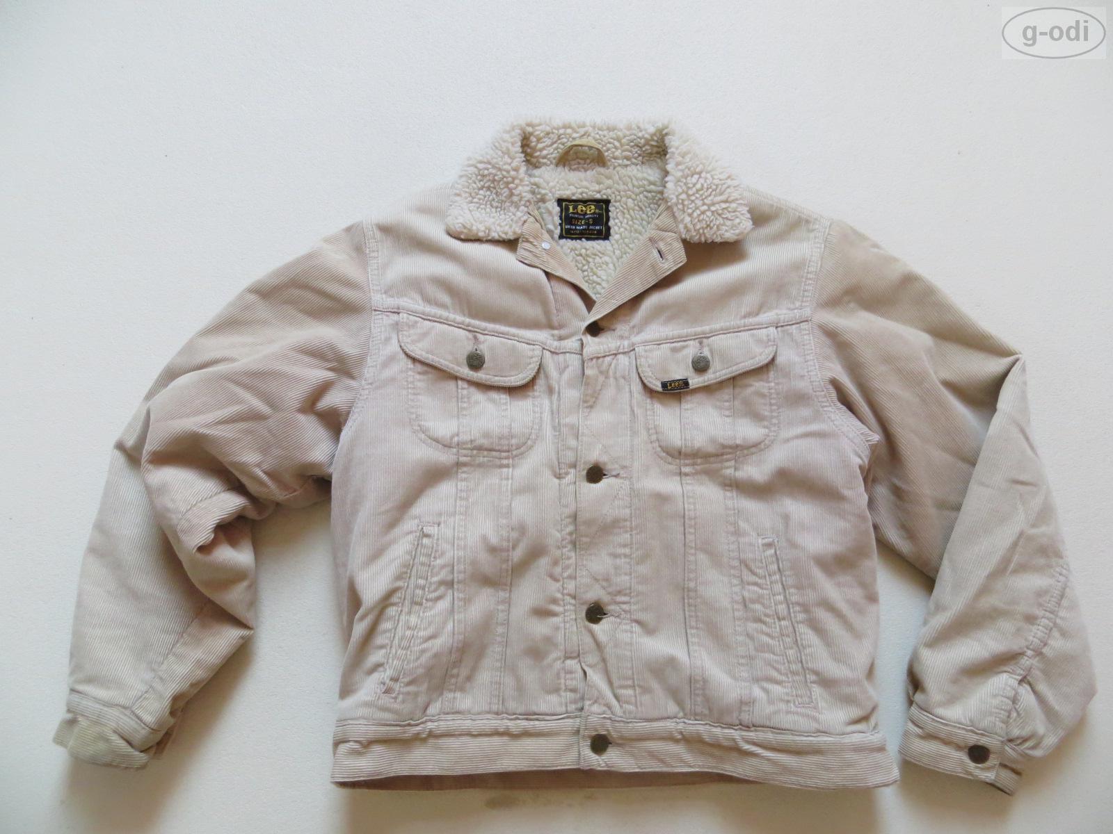 lee cord jeans jacke mit teddy fell gr s beige. Black Bedroom Furniture Sets. Home Design Ideas