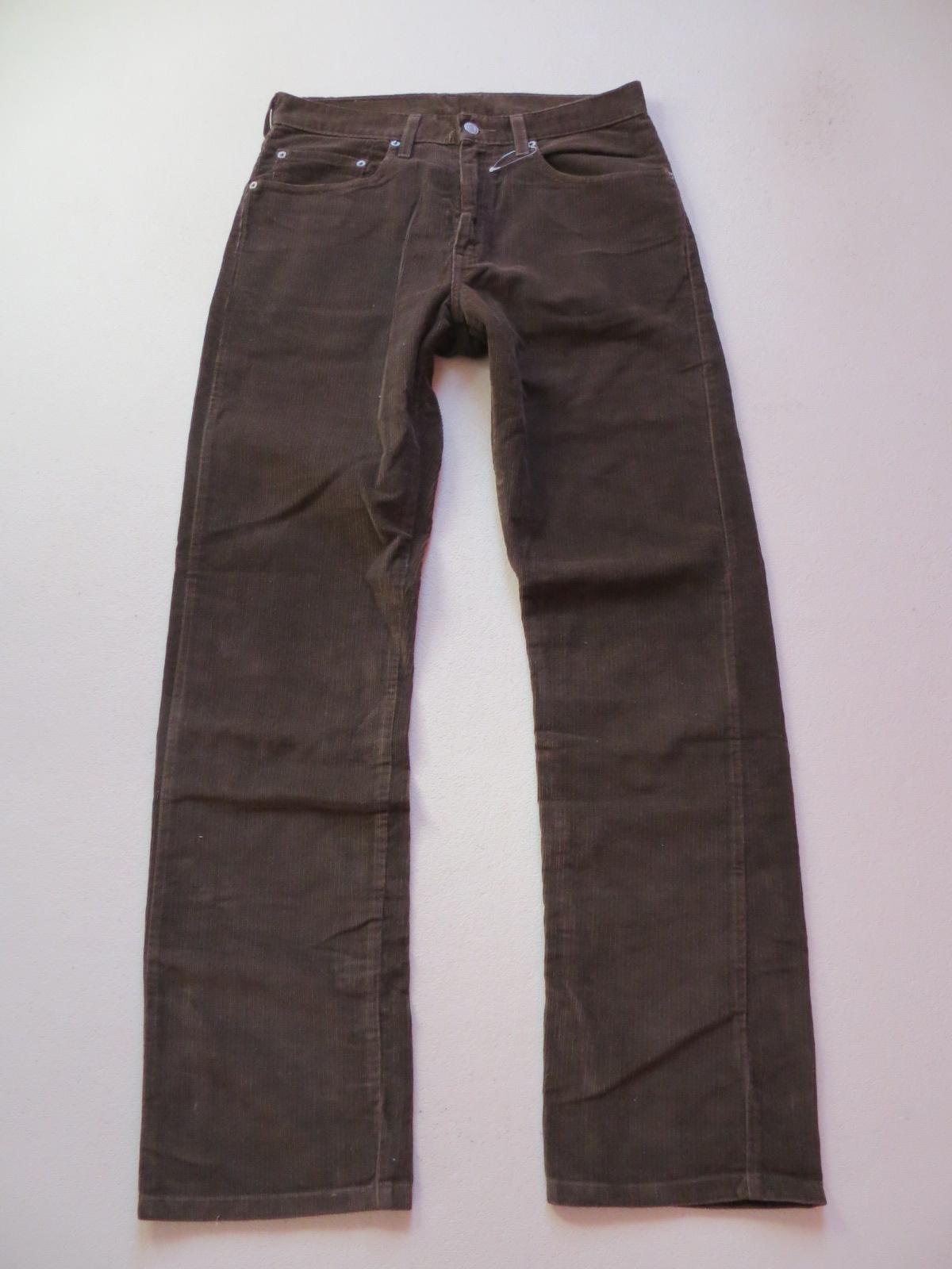 levi 39 s 505 cord jeans hose w 31 l 32 braun bequeme cordhose sehr gut 46. Black Bedroom Furniture Sets. Home Design Ideas