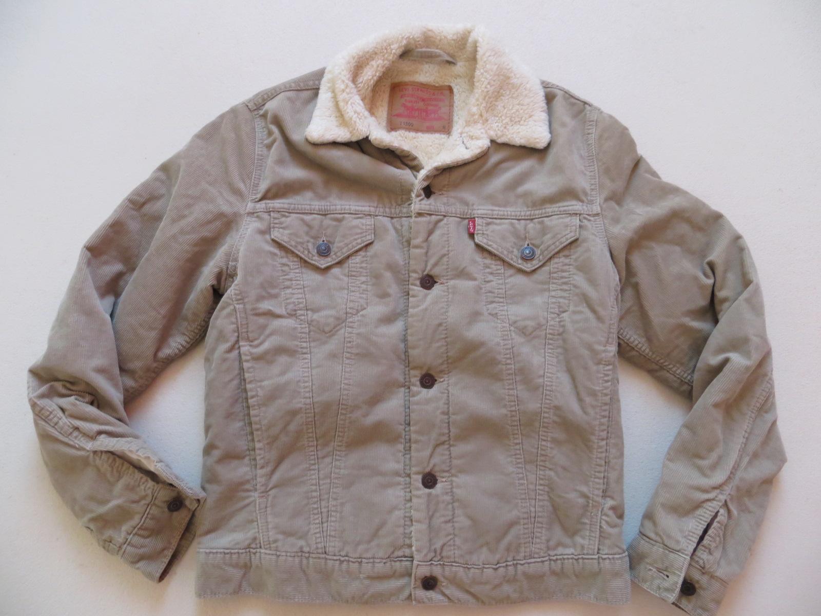 levi 39 s jeans cord jacke mit teddy fell gr m beige. Black Bedroom Furniture Sets. Home Design Ideas