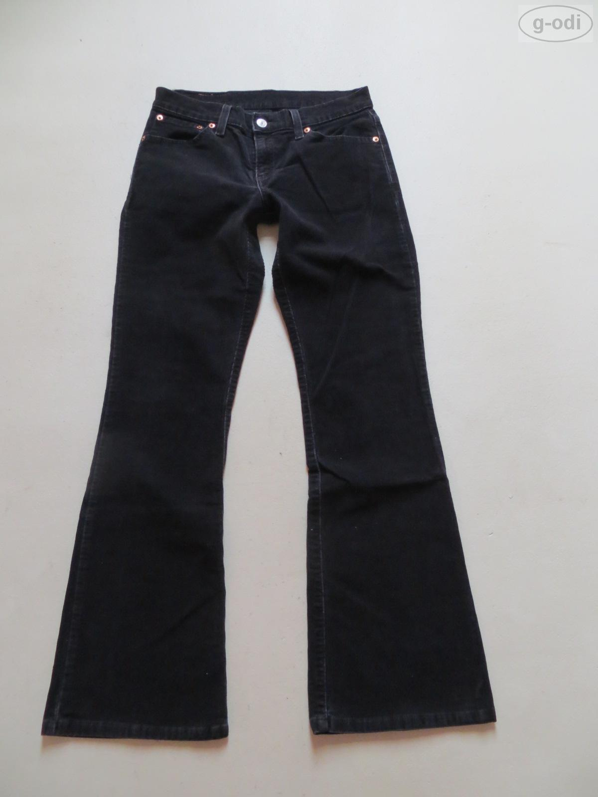 levi 39 s 529 cord bootcut jeans hose w 28 l 32 schwarz black cordhose gr 36 ebay. Black Bedroom Furniture Sets. Home Design Ideas