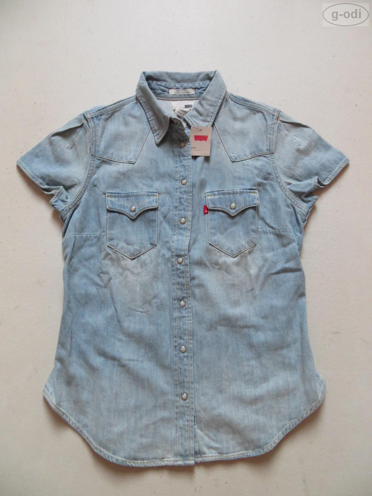 Levi 39 s bluse jeansbluse gr m neu kurzer arm feminin tailliert jeanshemd ebay - Jeanshemd damen lang ...