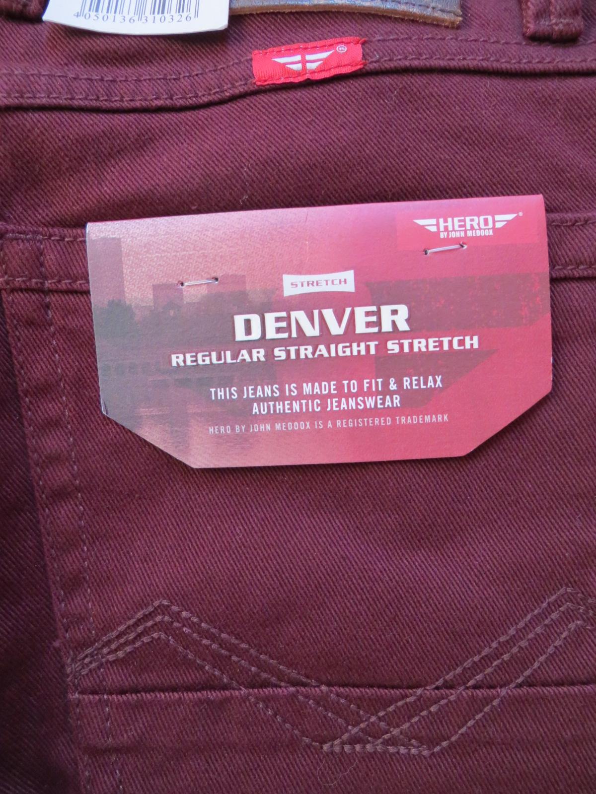 doppelter gutschein gut aussehend sehr günstig Details zu HERO John Medoox DENVER Stretch Jeans Hose W 34 /L 32, wine,  Bordeaux-Rot, NEU !