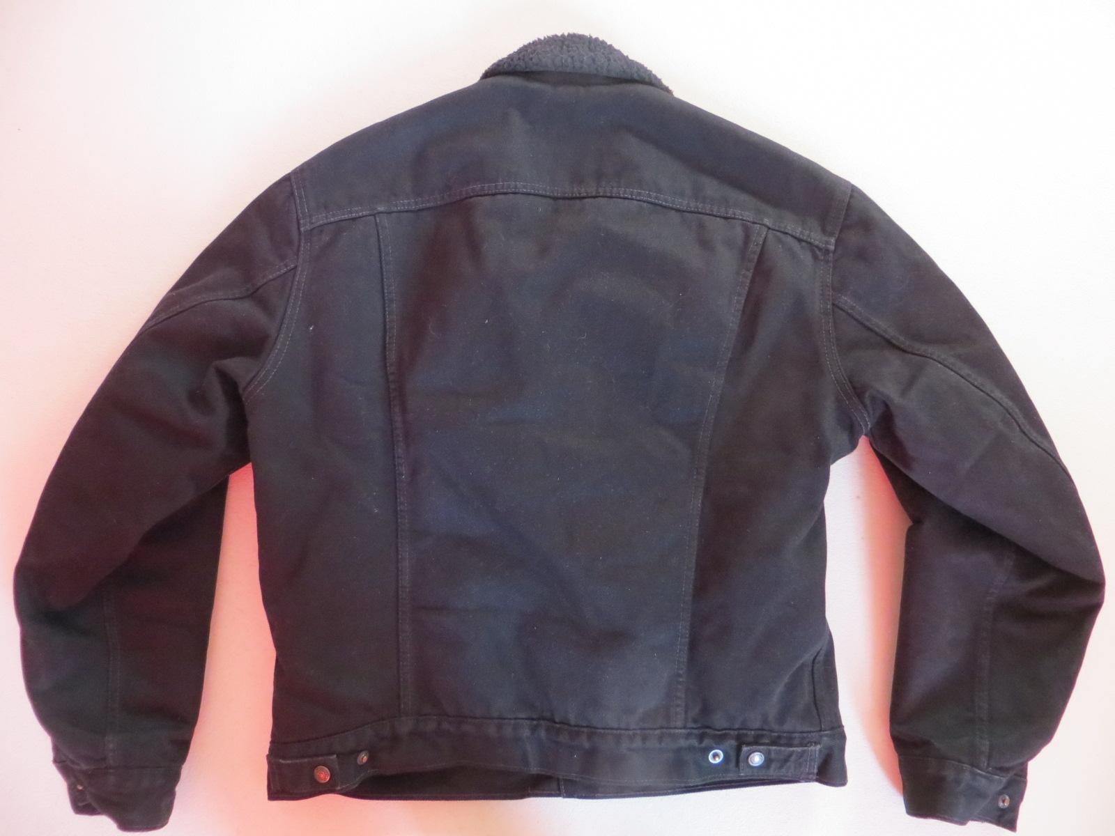 levi 39 s jacke jeansjacke mit schwarzem teddy fell gr. Black Bedroom Furniture Sets. Home Design Ideas